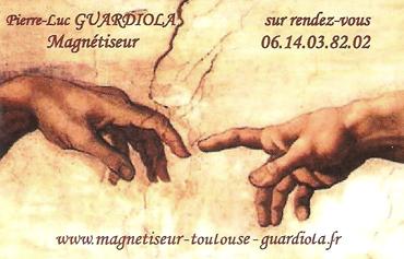 PL Guardiola, magnétiseur à Toulouse - carte de visite